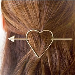 Wholesale Silver Metal Hair Clips - Vintage Gold  Silver Color Metal Triangle Hairpin Girls' Hair Clips Women Fashion Hair Accessories