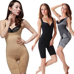 Wholesale Women Shapewear Wholesale - Wholesale-New Women Ladies Bamboo Charcoal Micro-Fibre Shaper Slimming Full Corset Tummy Trimmer Body Suit Underwear Shapewear Q1110
