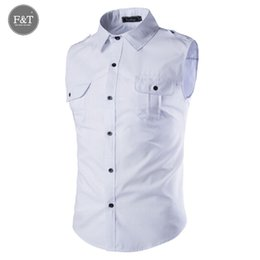 1bec28ecab4 Venta al por mayor-  tamaño asiático  camisa de vestir sin mangas de color  sólido de los hombres 2016 Nueva camiseta de ropa deportiva de los hombres  ...