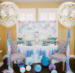 Wholesale Latex Decorative Balloons - Confetti Filled Balloons Helium Quality Party Wedding Valentines Birthday Decoration round clear ballon Hen Decor 36'' 18'' 12'' child toy