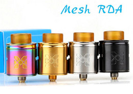 Wholesale Unique Metals - Latest Vandy Vape Mesh RDA Atomizer Compatible with Mesh Wire and Standard Coil Builds Unique Invisible Clamp Style Postless Build Deck dhl