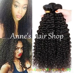 Wholesale Malaysian Afro Curl - Peruvian Virgin Hair Jerry Curl Deep Wave Curly Hair 1 Bundles Peruvian Curly 7a Afro Kinky Curly Weave Human Hair