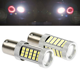 Wholesale Car Led Side Lights - High Bright 1156 BA15S P21W Canbus 66 LED Bulbs 2835 SMD Auto Lamp Tail Light Turn Signal Lights Bulbs Car Light Backup Lamp Light Sourcing