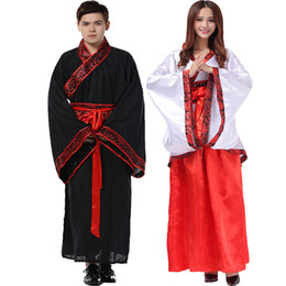 Wholesale Red Hanfu - new hanfu Ancient costume hanfu Women's and men's clothing Tang suit costumes