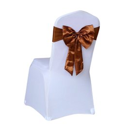 Wholesale Spandex Wedding Chair Covers Sashes - Elastic Bow Chair Decoration Wedding Party Spandex Sashes for Chair Cover Event Decorative Chair Sashes High Quality Best Price