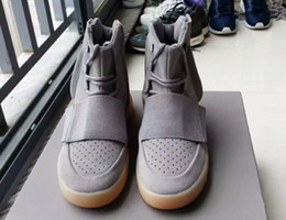 Wholesale calf boots men - 750 Boost with glow in the dark bottoms Kanye West Shoes Boosts 750 Men Sport Sneakers Fashion outdoor boots season Shoes 40-46