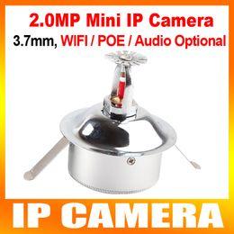 Wholesale Spy Camera Wires - XMEYE Security High Resolution H.264 Mini Spy 2MP 1080P POE Audio WIFI IP Camera Hidden CCTV HI3516C + IMX322,3.7MM Lens P2P Cloud