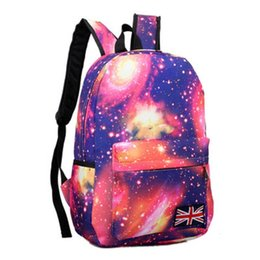 Wholesale Print Galaxy Backpack - Girls School Bags For Teenage Galaxy Stars Universe Space Printing Backpack Women Fashion Canvas Women Backpacks