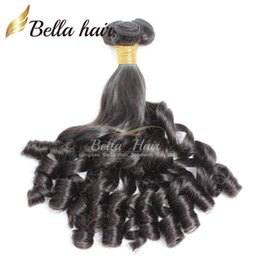 Wholesale Spring Curls - 7A Funmi Baby Curly Peruvian Hair Spring Curl Loose Wave Natural Black Hair Extension Unprocessed Hair Weft Free Shipping