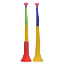 Brinquedos cheerleading on-line-Cor aleatória instrumentos musicais Removível Football Stadium cheer Chifres Taça Europeia Vuvuzela Cheerleading chifre Kid Trumpet Toy