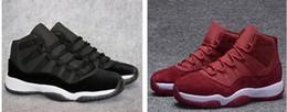 Wholesale free legend - Discount (11)XI Space jam Legend blue black Velvet 72-10 basketball shoes Mens Sports shoe 11s bred woman Sneakers free shippment