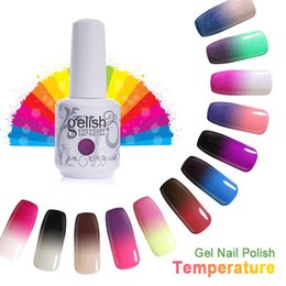 Wholesale Temperature Nail Gel - Gelish Temperature Gel Nail Art Soak Off UV LED Gel Nail Polish Color Changing Gel 15ml