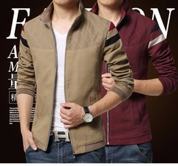 Wholesale Mens Korean Fashion Clothes - 2016 New Fashion Brand Jacket Men Trend Patchwork Korean Slim Fit Mens Designer Clothes Cotoon Men Casual Jacket Slim 4XL 5XL
