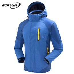 Wholesale Sport Snowboard Jackets - Wholesale-2016 Outdoor Winter Waterproof Wind Men Hiking Clothes Snowboard Ski Hunting Climbing tralvel Camping Jacket Sports