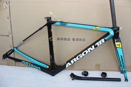 Wholesale Road Bike Carbon Frame 58cm - 2017 Newest Astana ar gon 18 Carbon Frame UD Road Bicycle Frame Racing Bike Frame+Fork+Seat Post+Headset+Brakes+BB Adapter Size XS,S,M,L