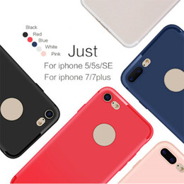 Wholesale Candy Clips - Slim Silicone Case for iphone 7 6 6s 5 5s Cover Candy Colors Soft 065mm TPU Matte Phone Case Shell with DUST CAP for Apple iphone 7 plus