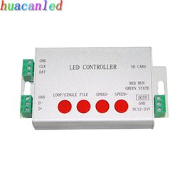 Wholesale Led Sd Card Controller - led controller,full color programmable,strip controller,1 port drive 2048 pixels,work with or without SD card,support WS2812,etc