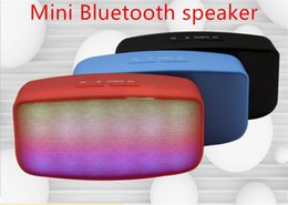 Wholesale Wireless Laptop Computer Speakers - N20 mini Bluetooth wireless speaker colorful LED light music player for TF card function cellphones tablets computers Laptops 16P-YX