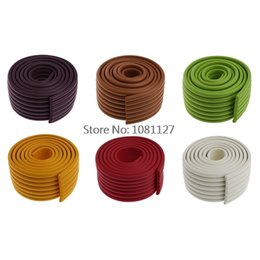 Wholesale table corner bumpers - Wholesale- New 1Pc Baby Safety Table Desk Edge Furniture Corner Cushion Protector Bumper Strip 2M Baby Safety Products