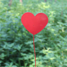 Wholesale Heart Sharp - Wholesale D10*H45CM Red Metal Tag for Metal Bucket Decoration Heart Sharp Modern Garden Supplies Garden Tag Metal tags