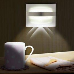 Wholesale Motion 12v - Bright Wall Sconces Motion Sensor LED Lamp Wireless Battery Powered Spot Lights Auto On Off for Hallway Pathway Staircase Wall Night Light