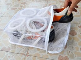 Wholesale Drying Laundry - New Arrive Storage Organizer Bags Mesh Laundry Shoes Bags Dry Shoe Organizer Portable Washing Bags