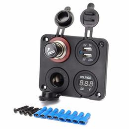 caricabatteria per auto mini plug plug eu Sconti Caricabatterie adattatore per porte USB Dual Car 12V + Voltmetro + Accendisigari con accendino CEC_61N