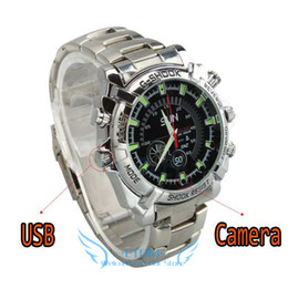 Wholesale Hd Digital Watch - 16GB Waterproof Steel Sport SEX Wrist Watch DVR HD 1080P Night Vision Spy Hidden Mini DV Digital Recorder Camera
