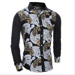 Wholesale Large Mens Dress Shirts - Men Long Sleeve Shirt Plaid Male High Quality Tops Shirt Fashion Mens Dress Shirts Slim Hawaiian Large Size XXL