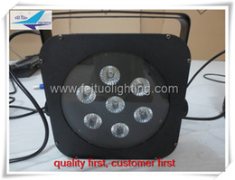 Wholesale Mini Led Par Can - free shipping 16Xlot Mini stage uplights 7x3w 3 in 1 led flat par can