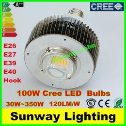 Wholesale Led High Bay Lighting - High Power Cree LED Bulbs 80W 100W 120W 150W 200W 250W 300W 350W E39 E40 Hook High Bay Light Warehouse shop supermarket lights