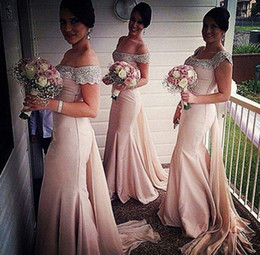 Wholesale Inexpensive Sequin Dresses - Inexpensive 2016 New Mermaid Bridesmaid Dress collar sexy beaded wedding bridesmaid Prom Gown long banquet Evening Dresses plus size