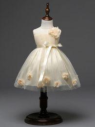 Wholesale Kids Skirt Shirt Design - Latest design flower girls wedding dress 3D rose baby girl tutu skirts kids girl's party yarn tulle organza dresses children ball gown