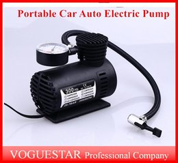 Wholesale Car Bicycles - Mini 12V Car Auto Electric Pump Air Compressor Portable Tire Inflator pumps Tool 300PSI Free Shipping ATP019