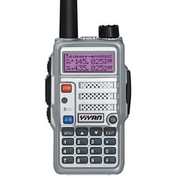 Wholesale Icom Vhf Dual - YI-UV66 dual band radio scanner walkie talkie vhf uhf handheld two way radios waterproof ham radio motorola hyt icom fm transceiver quality
