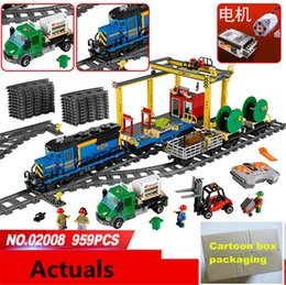 Wholesale Assembly Car - 959PCS Lepin 02008 City Explorers Cargo Train DIY assembly Blocks Lepin car series Bricks educational Toys for children #60052
