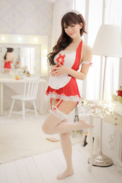 Wholesale Dress Sexy Lingerie Costume Servant - Wholesale-Sexy cosplay costumes red sexy maid cosplay dress sexy lingerie servant costume erotic lingerie temptation sexy maid costumes