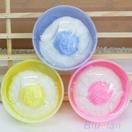 Wholesale Baby Puff Powder - Wholesale- Latest Hot Sale Baby Beauty Multicolor Cosmetic Villus Powder Puff Sponge Case Makeup Tool 02G 5KAJ