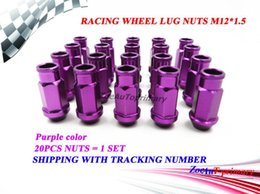 Wholesale Racing Lug Wheel Nuts - 20PCS set Purple JDM RACING WHEEL LUG NUTS M12*1.5 FOR Universal JDM Car Purple
