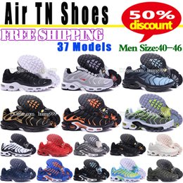 Wholesale Tennis Floor - Cheap Hight Quality Brand Air Sports TN Casual Shoes For Men Hot Sale Mens Athletic Running Tennis Shoes Man Training Sneakers