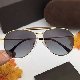 Wholesale Variety Frames - 2017 fashion FT0536 leather bridge nose double beam toad sunglasses men and women sunglasses a variety of colors