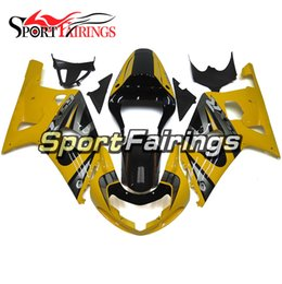 Wholesale Motorcycle Cowling For Suzuki - Injection Fairings For Suzuki GSXR600 GSXR750 00 01 02 03 2000 - 2003 ABS Plastics Motorcycle Full Fairing Kit Cowlings K1 Body Kits Yellow