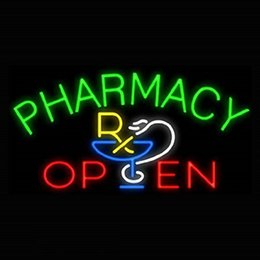 """Wholesale Open Pub - NEW Pharmacy Open Glass Neon Sign Light Beer Bar Pub Sign Arts Crafts Gifts Sign 19X19"""""""