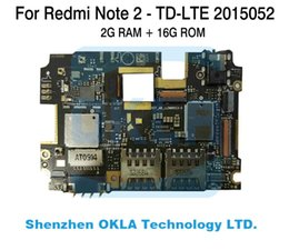 Wholesale Ram Board - Wholesale- 1pcs For Xiaomi Redmi Note2 Note 2 2015052 2G RAM 16GB ROM TD-LTE used Mainboard Motherboard Logic Board Replacement