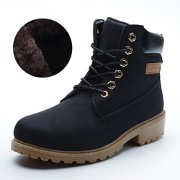 Wholesale Christmas Pony - 2017 Winter Brand Men Warm Fur Shoes Martin Boots Suede Leather Warm Snow Boots Outdoor Casual Timber Boots Botas Hombre