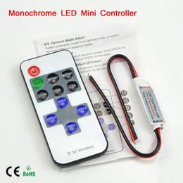 2019 mini led controlador manual 1 Pcs Mini Sem Fio RF Cor Única LED Dimmer DC 5 V 12 V 24 v 11 Key Controlador Remoto Para Tira CONDUZIDA 5050 3528 2835 5630 Controle desconto mini led controlador manual