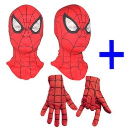 Wholesale Wholesale Spiderman Masks - uper Cool Spiderman Cosplay Party Masks Full Head Face Halloween Masks