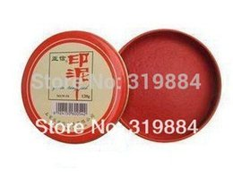 Wholesale Paper Red Coat - Free shipping 10 boxes lot Chinese Yinni Stamp Pad, Red Ink Paste, Ink Pad