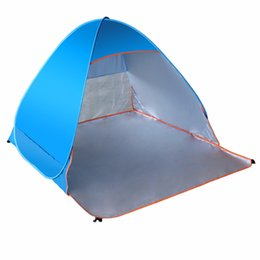 Wholesale Pop Up Tent Beach - Wholesale- LumiParty Folding Beach Tent Automatic Pop Up Tents Outdoor Camping Anti-UV Sun Shade Shelter