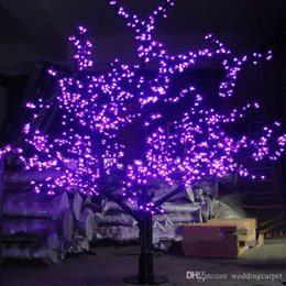 Wholesale Light Cherry Blossom Tree - 1.5M 1.8m 2m Shiny LED Cherry Blossom Christmas Tree Lighting Waterproof Garden Landscape Decoration Lamp For Wedding Party Christmas supply